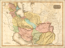 Central Asia & Caucasus, Middle East and Persia Map By John Pinkerton
