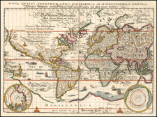 World Map By Matthaus Merian