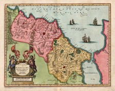 Africa and North Africa Map By Mattheus Merian