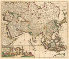 Asia Map By Theodorus I Danckerts
