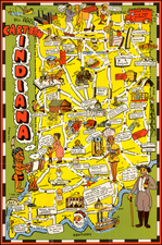 Indiana and Pictorial Maps Map By Bill Skacel