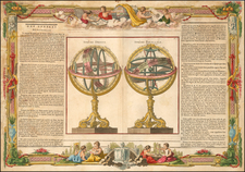 World and Celestial Maps Map By Louis Brion de la Tour / Louis Charles Desnos