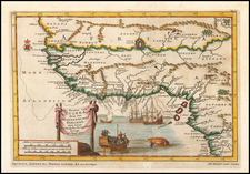 West Africa Map By Pieter van der Aa