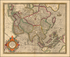 Asia Map By Gerhard Mercator