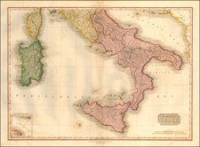 Italy and Southern Italy Map By John Pinkerton