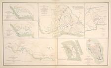 South, Southeast, Texas and Southwest Map By Julius Bien & Co.