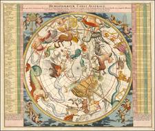 Celestial Maps Map By Johann Gabriele Doppelmayr