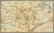 Texas Map By Knox Oil Co