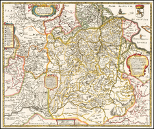Poland, Russia and Baltic Countries Map By Matthaeus Merian
