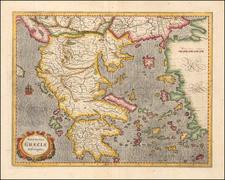 Greece Map By  Gerard Mercator