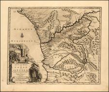 West Africa Map By Pieter van der Aa