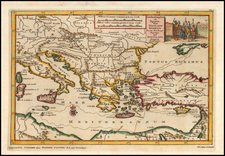 Balkans, Italy, Turkey, Mediterranean, Holy Land and Turkey & Asia Minor Map By Pieter van der Aa
