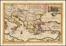 Constantinoplen en Egypten door Nicolaus Schmidt in enn zes Jarige Reystogt uyt Duytsland [shows Cyprus] By Pieter van der Aa