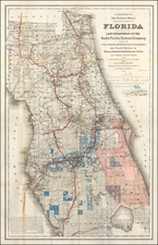 Florida Map By G.W.  & C.B. Colton / South Florida Railroad Company
