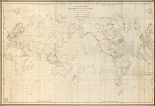 World and Polar Maps Map By Depot de la Marine