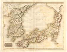 Japan and Korea Map By John Pinkerton