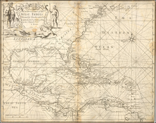 Florida, South, Southeast and Caribbean Map By Charles Price