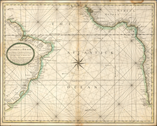 Atlantic Ocean, Brazil and West Africa Map By Charles Price