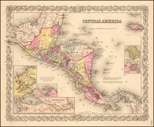 Colton's Central America By Joseph Hutchins Colton