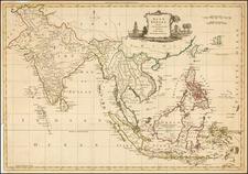 China, India & Sri Lanka, Southeast Asia, Philippines and Indonesia Map By Thomas Kitchin
