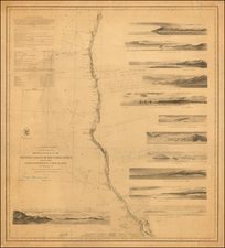 Oregon and California Map By United States Coast Survey / George Davidson