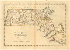 Massachusetts Map By Mathew Carey