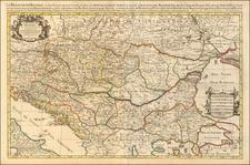 Poland, Hungary and Balkans Map By Alexis-Hubert Jaillot