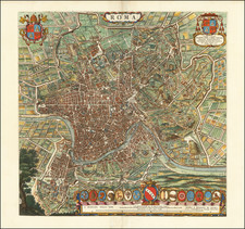 Rome Map By Willem Janszoon Blaeu / Cornelis Mortier
