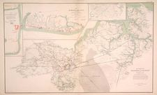Mid-Atlantic, South, Southeast and Texas Map By Julius Bien & Co.