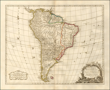 South America Map By Didier Robert de Vaugondy