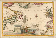Atlantic Ocean, New England and Mid-Atlantic Map By Pieter van der Aa