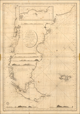Argentina and Chile Map By Depot de la Marine