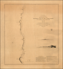 [Umpqua River to Cape Mendocino] Reconnaissance of the Western Coast of the United States From Monterey To The Columbia River in three sheets.  Sheet No.  2.  . . . 1850 (second edition)  [Separately Published on thick paper] By United States Coast Survey