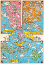United States, New York City, Alaska, Hawaii, Hawaii, Pictorial Maps and Los Angeles Map By Sergio Aragones Domenech