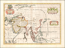 Asia and Southeast Asia Map By Edward Wells