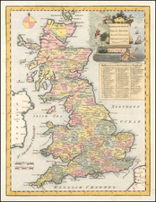 British Isles Map By John Senex