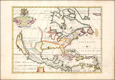 North America and California as an Island Map By Edward Wells