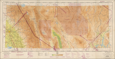 Nevada and California Map By U.S. Coast & Geodetic Survey