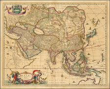 Asia Map By Nicolaes Visscher I