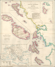 Greece and Malta Map By Edward Stanford