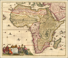 Africa Map By Frederick De Wit