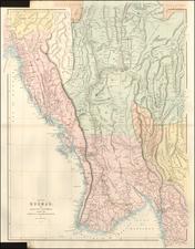 India and Thailand, Cambodia, Vietnam Map By John Arrowsmith