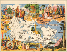 Canada Map By Joseph Porphyre Pinchon