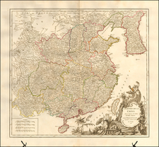 China and Korea Map By Gilles Robert de Vaugondy