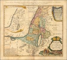 Asia and Holy Land Map By Homann Heirs / Johann Christoph Harenbergh