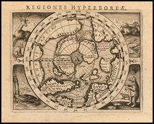 Polar Maps Map By Petrus Bertius