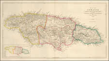 Jamaica Map By John Arrowsmith