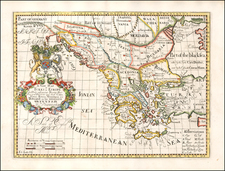 Balkans, Greece, Turkey and Turkey & Asia Minor Map By Edward Wells