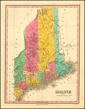Maine Map By Anthony Finley
