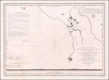 California and San Francisco & Bay Area Map By Abel Aubert   Du Petit-Thouars